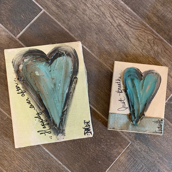 Other - Canvas Heart Wall Decor